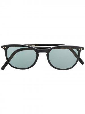 Солнцезащитные очки в круглой оправе Lunor. Цвет: черный