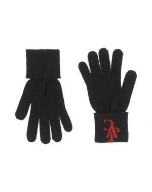Перчатки VERSACE JEANS COUTURE. Цвет: черный