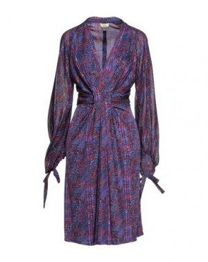 Платье миди ISSA. Цвет: фиолетовый