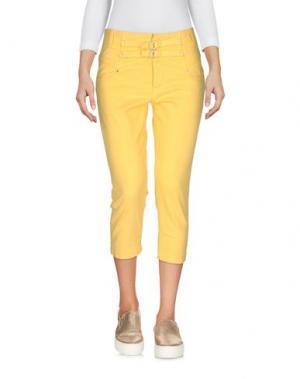 Джинсовые брюки-капри MISS SIXTY. Цвет: желтый