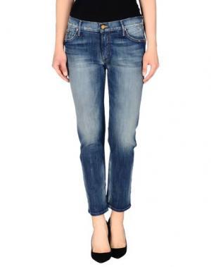 Джинсовые брюки-капри MOTHER. Цвет: синий