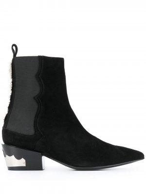 Декорированные ботинки Toga Pulla. Цвет: черный