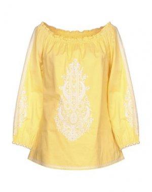 Блузка EMMA & GAIA. Цвет: желтый