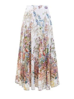 Длинная юбка Kareen из струящегося хлопка с разрезами CHARO RUIZ IBIZA. Цвет: белый