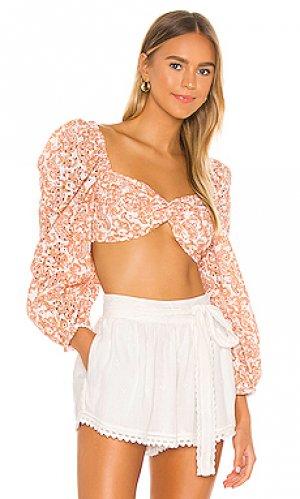Блузка paisley Bardot. Цвет: ржавый
