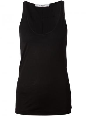 Базовая майка Givenchy. Цвет: чёрный