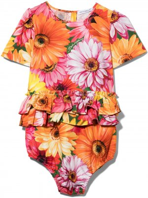 DG BABY GIRL AIO W SS IN FLRL PRNT FRL Dolce & Gabbana Kids. Цвет: желтый