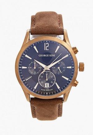 Часы George Kini. Цвет: коричневый