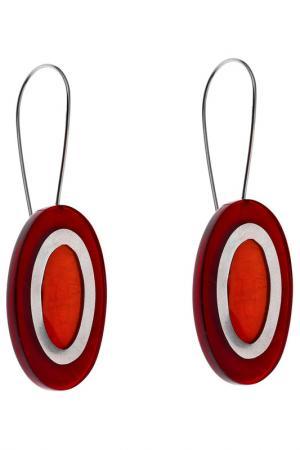 Серьги Culture Mix. Цвет: оранжевый, коричневый