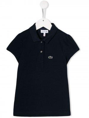 Рубашка-поло с нашивкой-логотипом Lacoste Kids. Цвет: синий