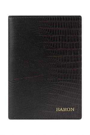 Обложка для паспорта Baron. Цвет: коричневый