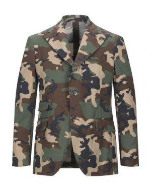 Пиджак GABRIELE PASINI. Цвет: зеленый-милитари