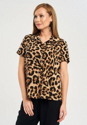 Блуза Akimbo. Цвет: коричневый
