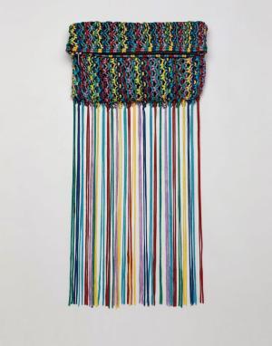 Клатч с разноцветными кисточками ASOS DESIGN