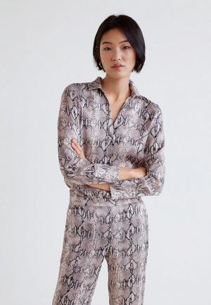 Блуза Mango - BOA. Цвет: бежевый