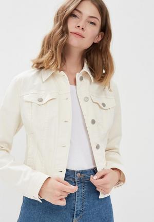 Куртка джинсовая United Colors of Benetton UN012EWABZH2. Цвет: белый