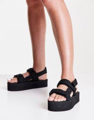 Черные сандалии в спортивном стиле -Черный цвет Vero Moda