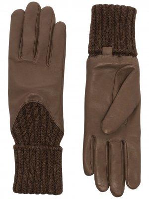 Перчатки Cecilia Agnelle. Цвет: коричневый