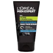 Pure Charcoal Anti-Blackhead Daily Face Scrub 100ml LOréal Paris Men Expert