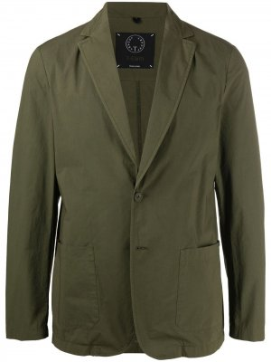 Однобортный пиджак с заостренными лацканами Tonello. Цвет: зеленый