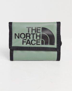 Бумажник цвета хаки Base Camp-Зеленый цвет The North Face