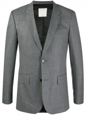 Пиджак строгого кроя Sandro Paris. Цвет: серый