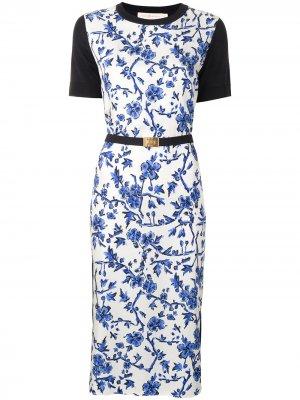 Платье Greer со вставками Tory Burch. Цвет: синий