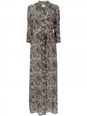 LAgence платье-рубашка Cameron с цветочным принтом L'Agence. Цвет: разноцветный