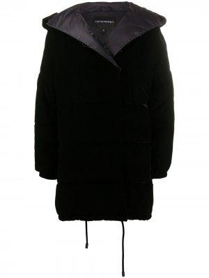 Двубортный пуховик Emporio Armani. Цвет: черный