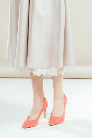 Туфли-лодочки JUST COUTURE. Цвет: морковный