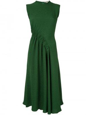 Платье миди Pina Edeline Lee. Цвет: зеленый