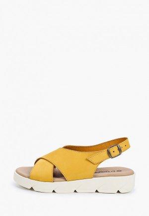 Сандалии El Tempo. Цвет: желтый