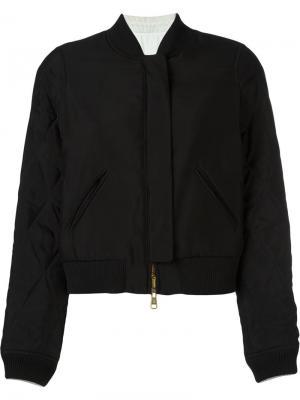 Двухсторонняя стеганая куртка-бомбер Chloé. Цвет: чёрный