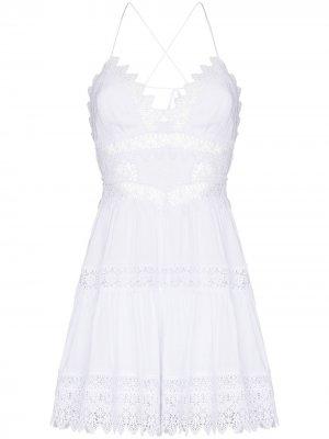 Платье мини Rachel Charo Ruiz Ibiza. Цвет: белый