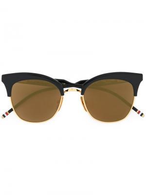 Солнцезащитные очки в оправе кошачий глаз Thom Browne Eyewear. Цвет: синий