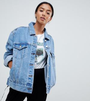 Свободная джинсовая куртка -Синий Missguided Petite