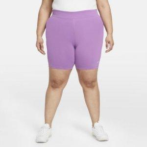 Женские велошорты со средней посадкой Sportswear Essential (большие размеры) - Пурпурный Nike