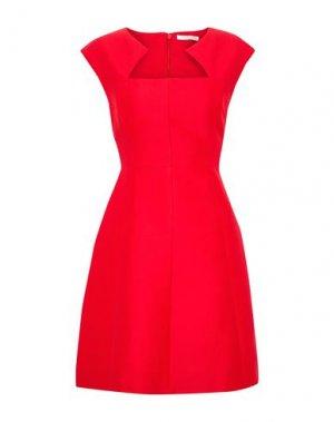 Короткое платье HALSTON. Цвет: красный