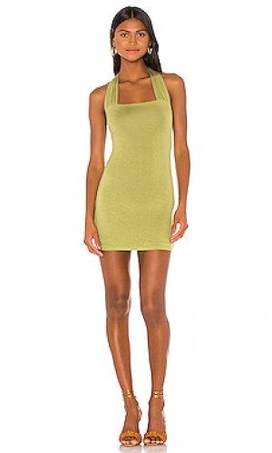 Платье dulce Lovers + Friends. Цвет: зеленый