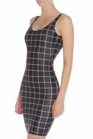 Платье American Apparel. Цвет: white grid on black