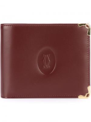 Бумажник с тисненым логотипом Cartier Vintage. Цвет: красный