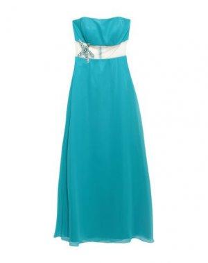 Длинное платье JOLIE CARLO PIGNATELLI. Цвет: лазурный