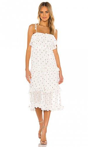 Платье миди edna MAJORELLE. Цвет: белый