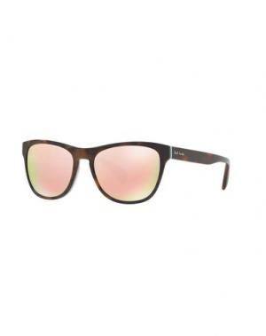 Солнечные очки PAUL SMITH. Цвет: темно-коричневый