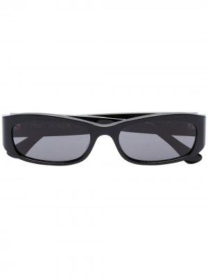 Солнцезащитные очки Leila в прямоугольной оправе Port Tanger. Цвет: черный