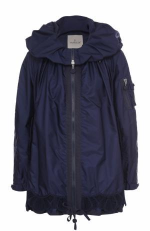 Ветровка свободного кроя на молнии Moncler. Цвет: темно-синий