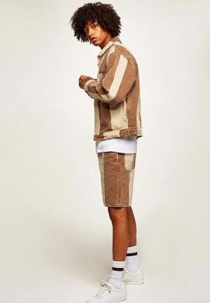 Куртка джинсовая Topman. Цвет: бежевый