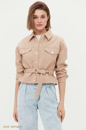 Легкая джинсовая куртка на заклепках LOVE REPUBLIC