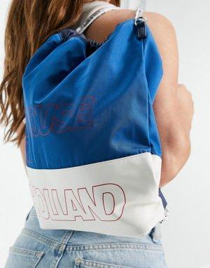 Универсальный рюкзак-тоут с комбинированной расцветкой синего и белого цвета -Многоцветный House of Holland