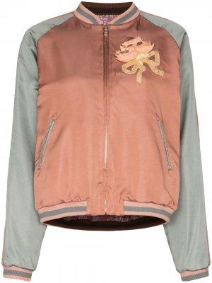 Куртка-бомбер с пайетками Gucci. Цвет: розовый